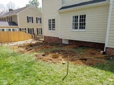 Footers dug for new deck
